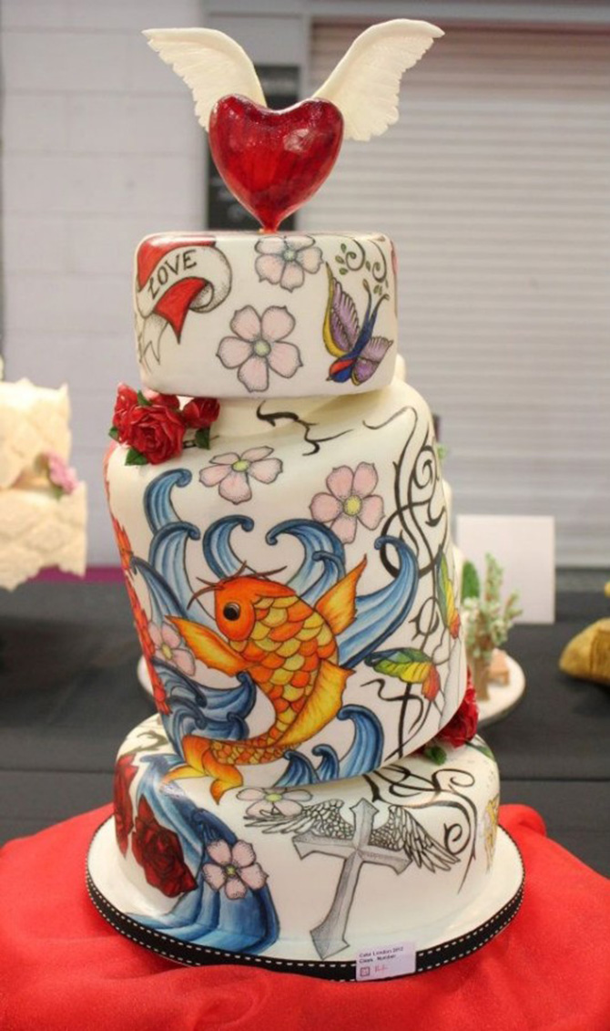 tattoo wedding cake casamentos ink 20764